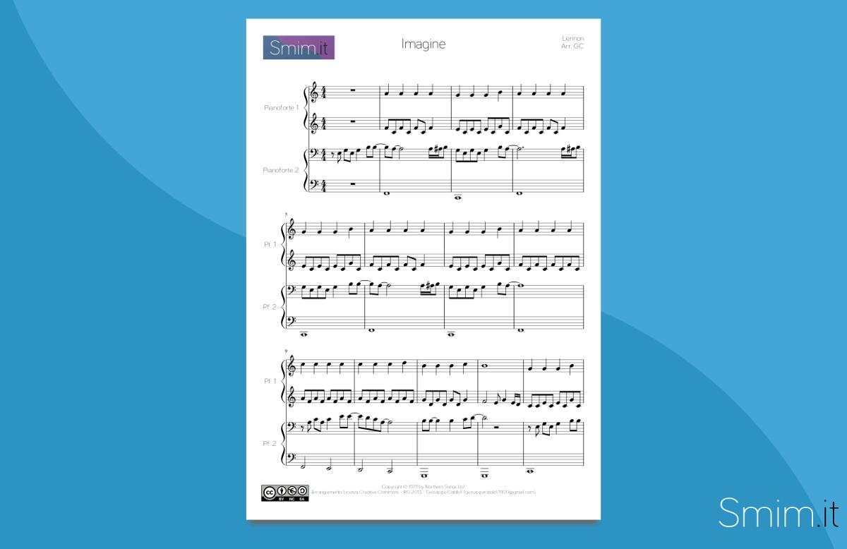 Imagine - Spartito per Pianoforte a 4 Mani
