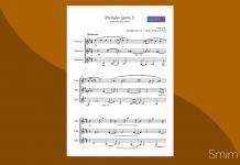 Preludio da Cavatina di Tansman - Spartito per Trio di Chitarre