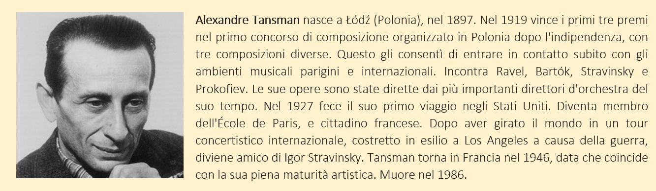 Tansman, Alexandre - biografia breve
