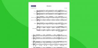 L'Autunno, da Le Quattro Stagioni - Partitura per orchestra scolastica