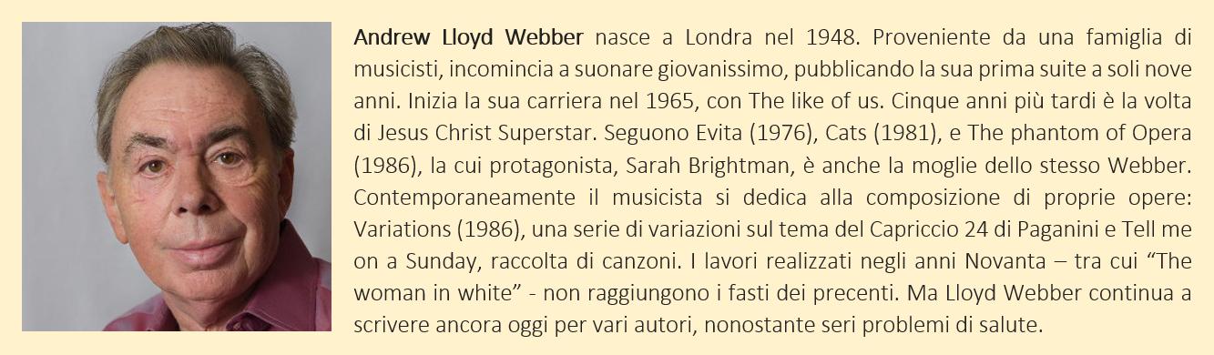 Andrew Lloyd Webber - biografia breve