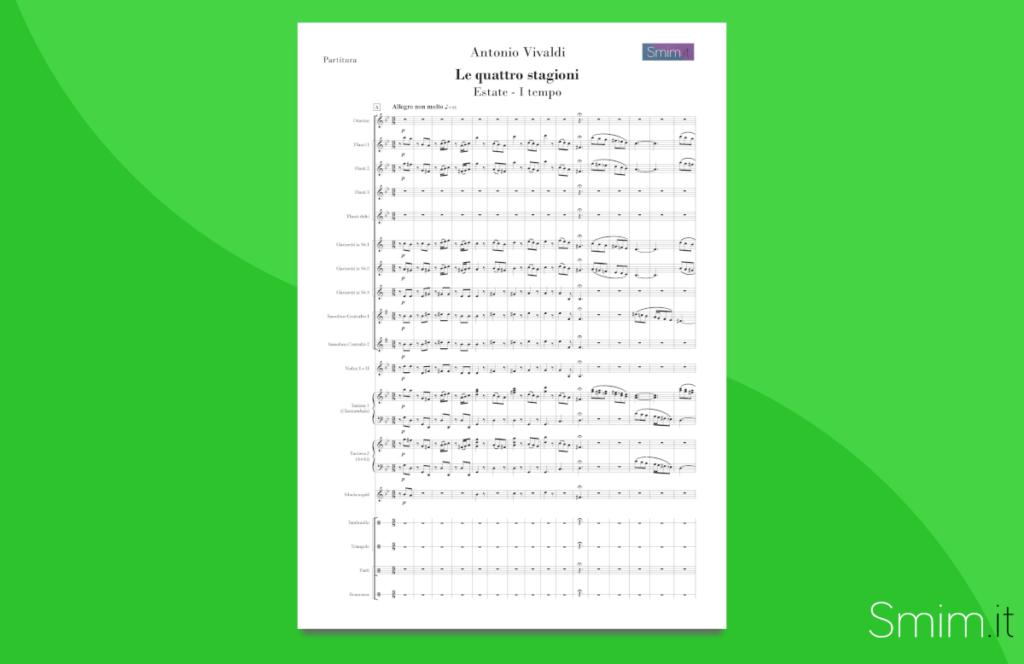 vivaldi - medley da 'le 4 stagioni' (capuano) [partitura gratis per orchestra]