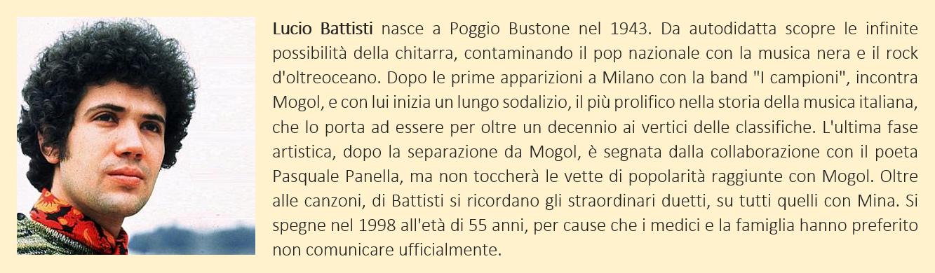 Battisti, Lucio - Biografia Breve