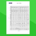 Frozen - Let it Go - Partitura Gratis per Orchestra Scolastica