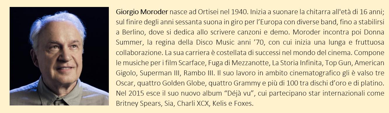 Moroder, Giorgio - biografia breve