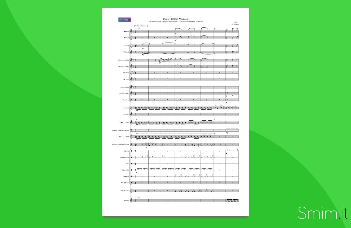 medley colonne sonore: piccoli brividi musicali   partitura gratis per orchestra scolastica