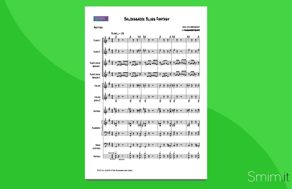 baldassarre blues fantasy | Partitura gratis per orchestra scolastica