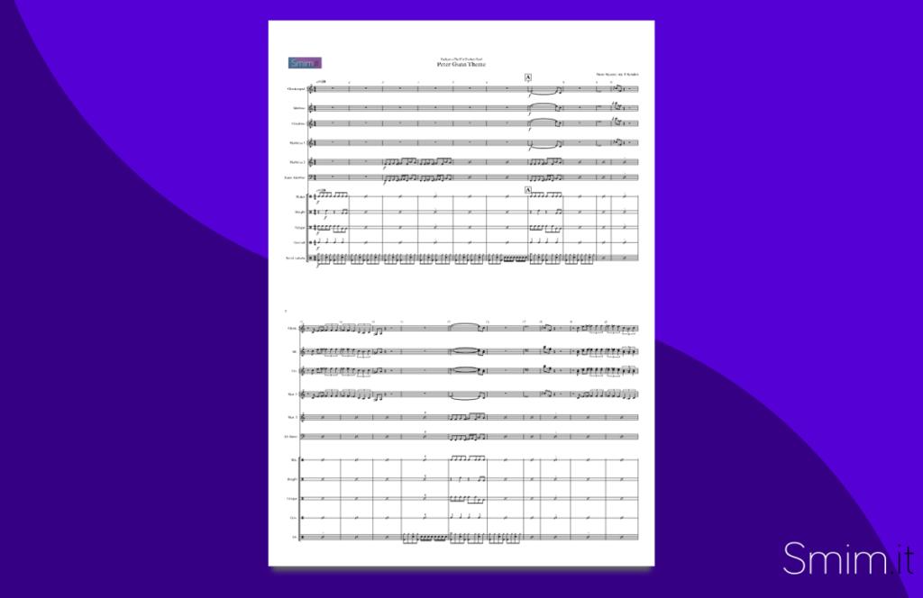 Peter Gunn Theme, da I Blues Brothers | Spartito gratis per percussioni