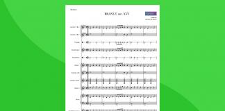 branlè partitura gratis per orchestra scolastica