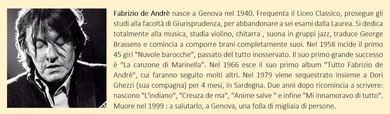 fabrizio de andrè, biografia breve