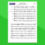 faber - ouverture da suite in sol | partitura gratis