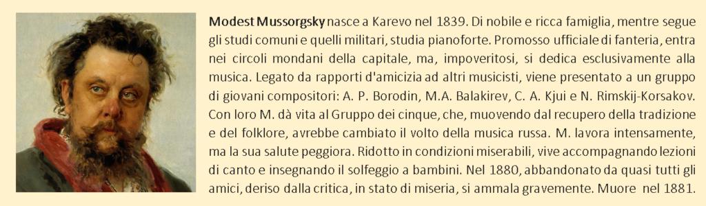 Mussorgsky, biografia breve