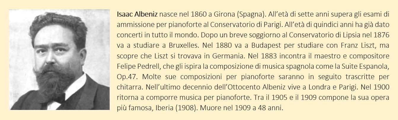 albeniz, biografia breve