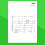 aria sulla quarta corda di bach - partitura gratis per orchestra scolastica