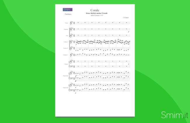 bach - jesus joy of man's desiring - spartito partitura per orchestra scolastica