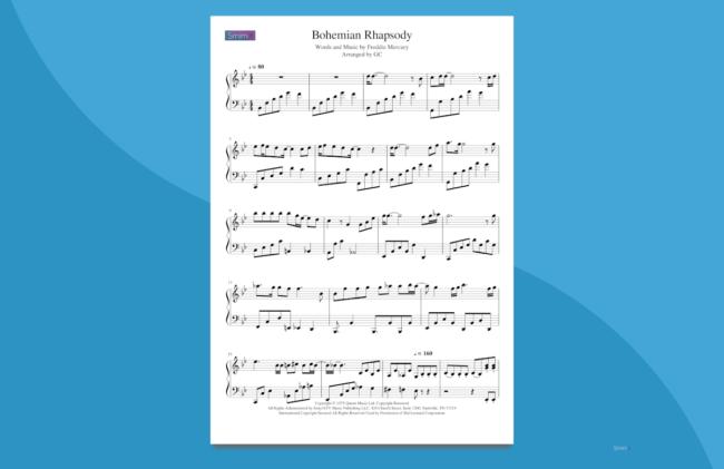 queen - bohemian rhapsody   spartito per pianoforte