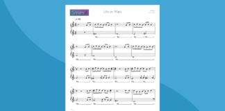 life on mars di david bowie | spartito per pianoforte