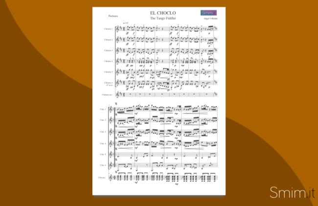 el choclo | spartito gratis per ensemble di chitarre