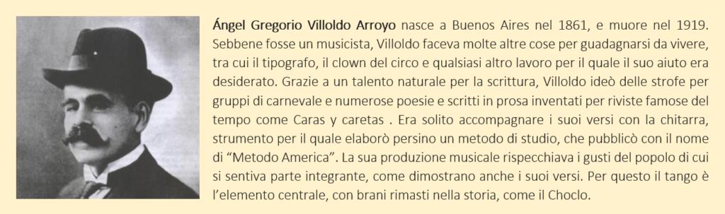 biografia del compositore argentino Villoldo, autore de El Choclo