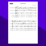 brahms variazioni op.23 | spartito gratis per ensemble di percussioni