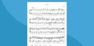 canone di pachelbel   spartito gratis per pianoforte
