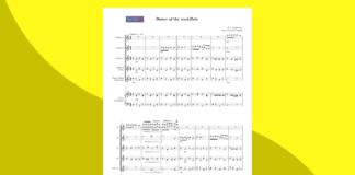 danza degli zufoli di tchaikovsky   spartito gratis per ensemble di flauti