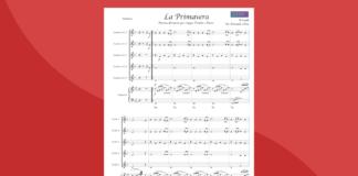 la primavera da le 4 stagioni di vivaldi   spartito gratis per ensemble di trombe