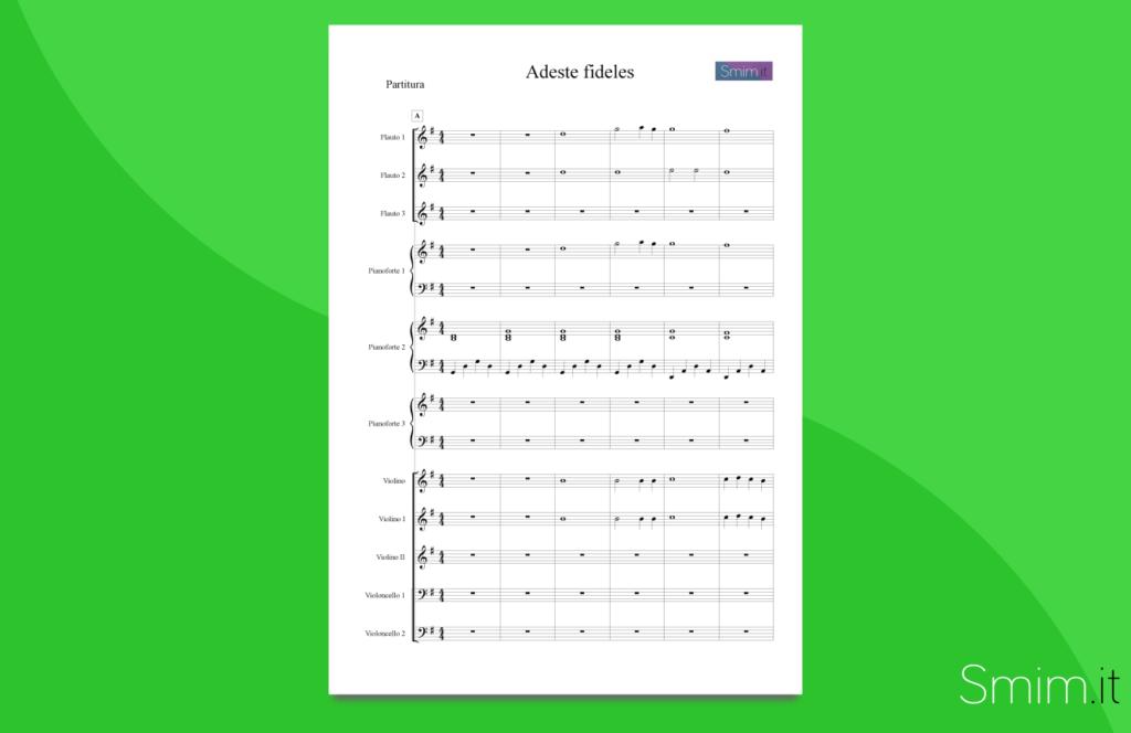 adeste fideles | partitura gratis per orchestra di scuola media ad indirizzo musicale