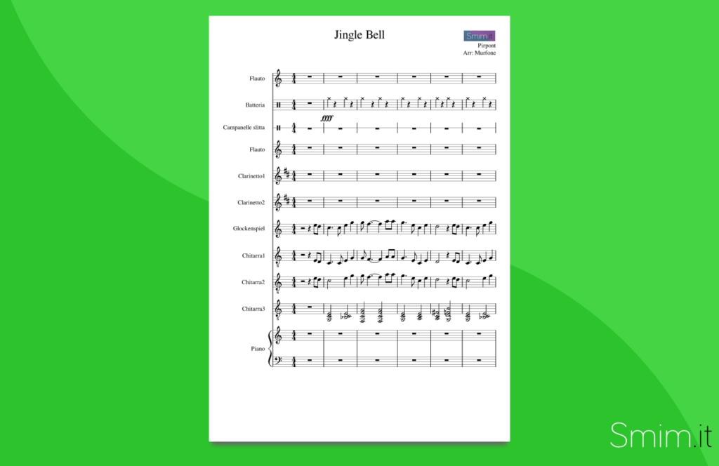 jingle bells | partitura gratis per orchestra di scuola media ad indirizzo musicale smim