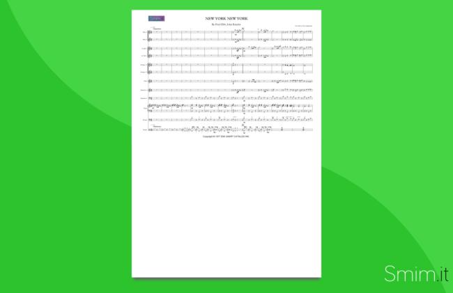 new york new york | partitura per orchestra scolastica