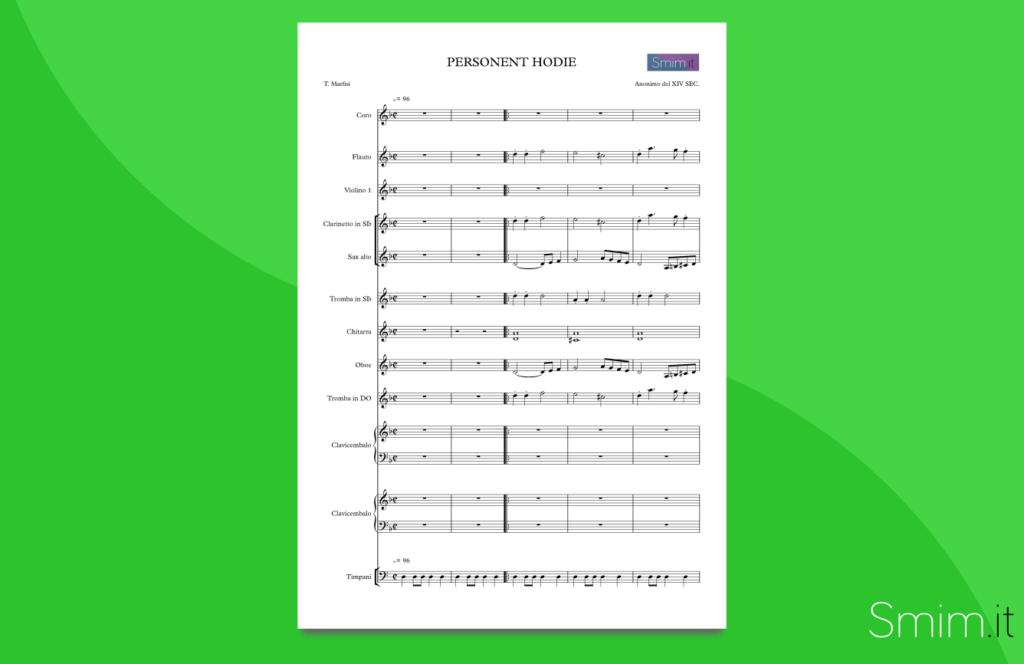 personent hodie | partitura gratis per orchestra di scuola media ad indirizzo musicale
