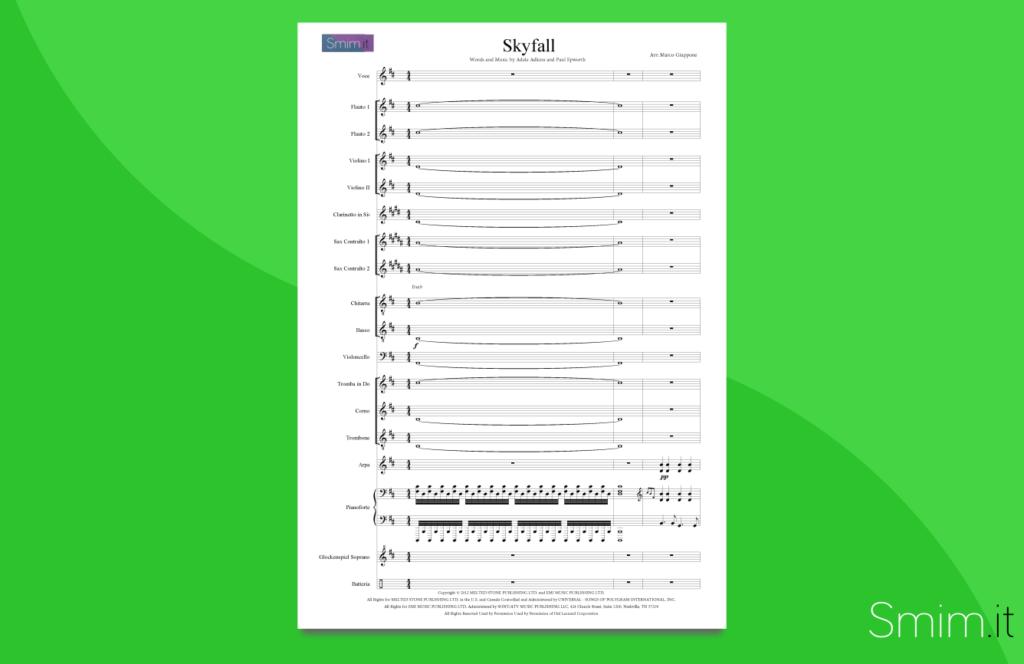 skyfall   partitura per orchestra di scuola media ad indirizzo musicale smim