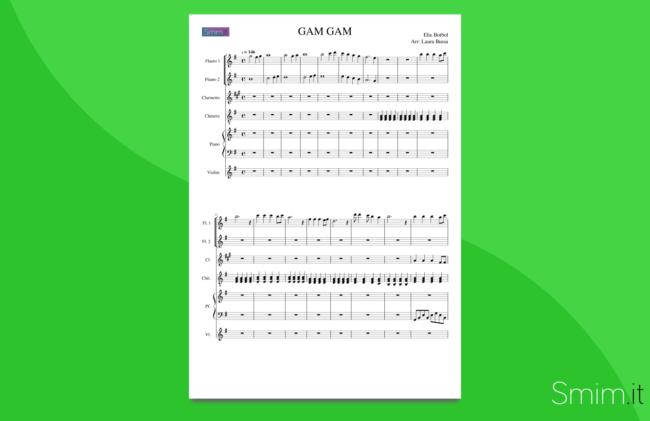 gam gam | partitura per orchestra di scuola media ad indirizzo musicale