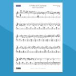 il volo del calabrone   spartito gratis per pianoforte