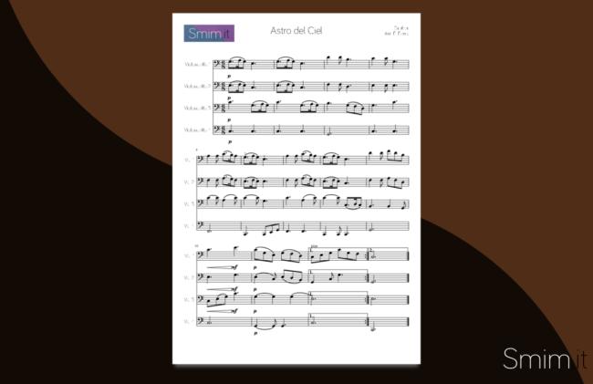 astro del ciel - silent night | spartito gratis per ensemble di violoncelli