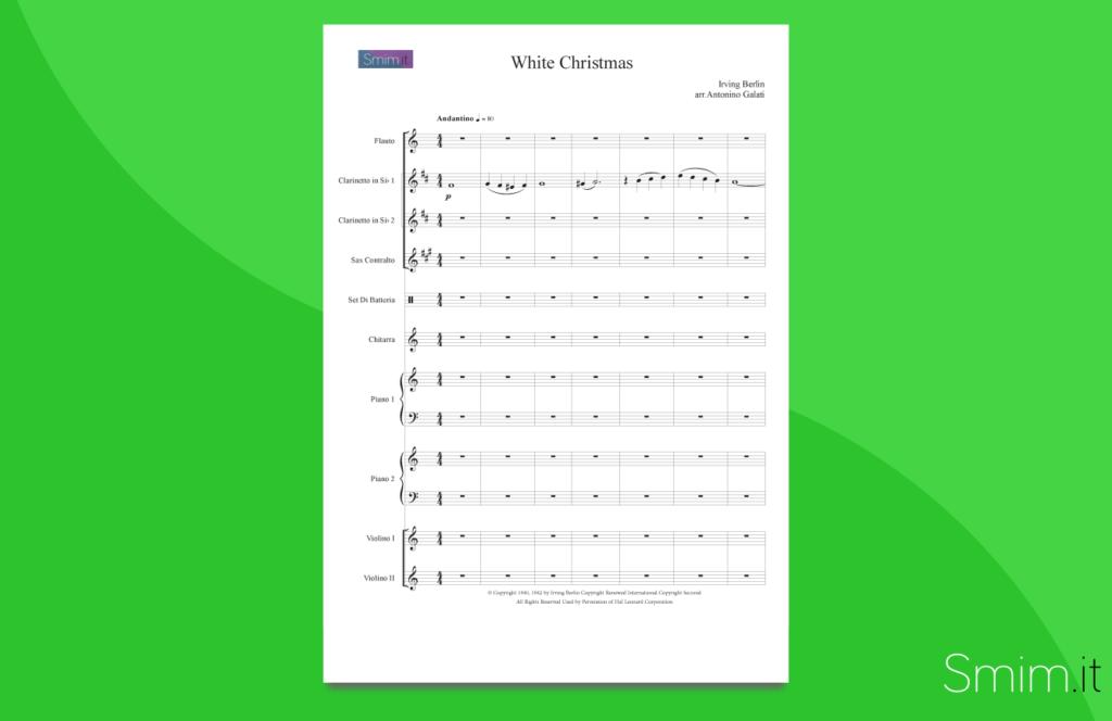 white christmas | partitura per orchestra scolastica
