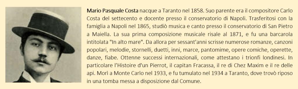 Mario Pasquale Costa, biografia breve