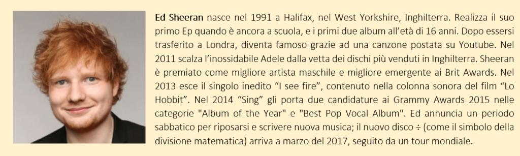 Ed Sheeran, biografia breve
