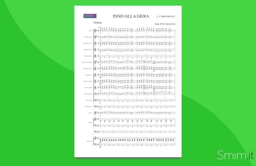 Inno alla Gioia | partitura gratis per orchestra scolastica