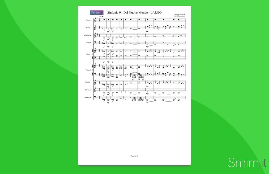 Sinfonia Dal Nuovo Mondo | partitura gratis per orchestra scolastica