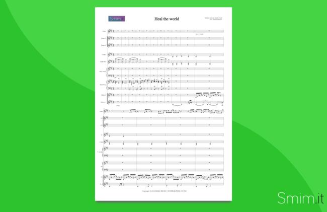 Heal the World, di Michael Jackson | partitura per orchestra scolastica