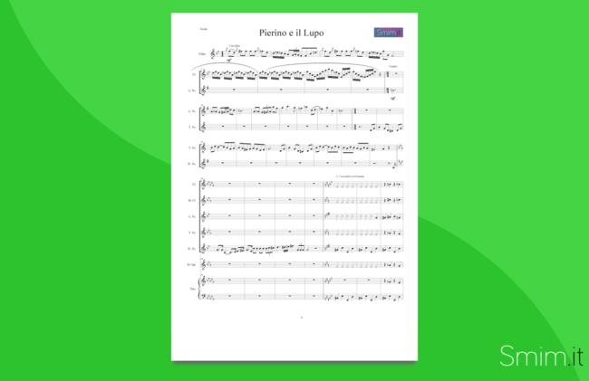 Pierino e il Lupo | partitura gratis per orchestra scolastica