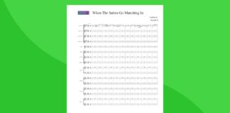 when the saints go marching in | partitura gratis per orchestra scolastica