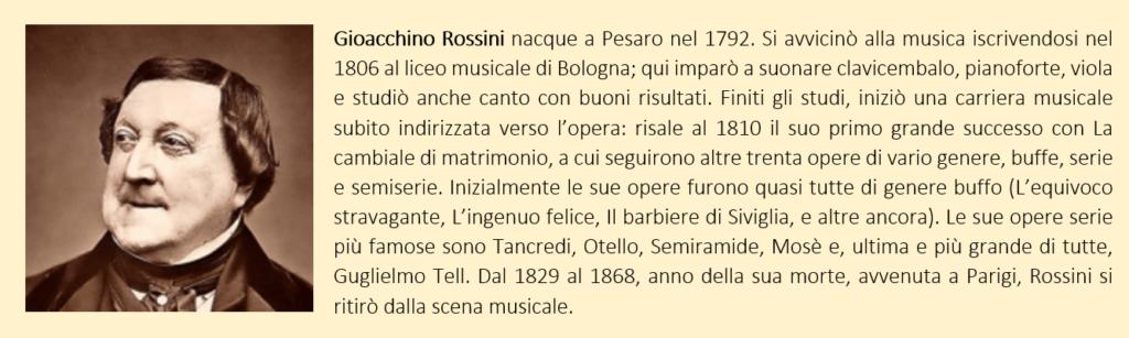 Rossini Gioacchino: biografia breve