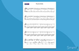 piccola stella | spartito gratis per pianoforte