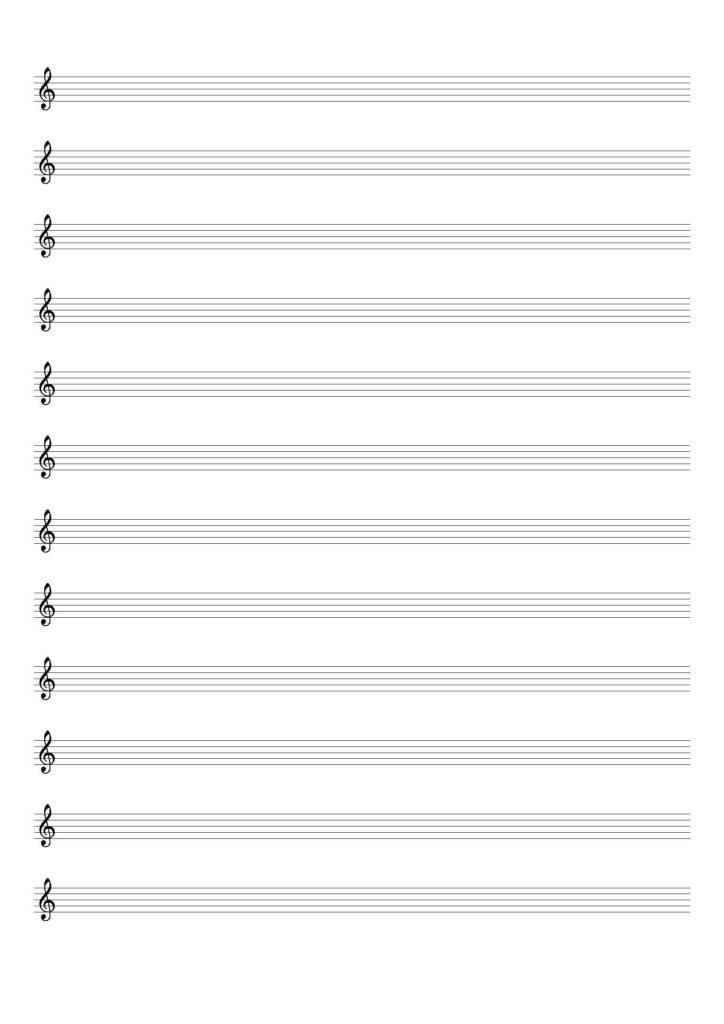 Spartito vuoto chiave di violino