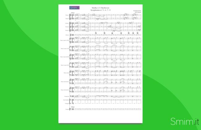 medley su temi di beethoven | partitura gratis per orchestra di scuola media ad indirizzo musicale smim