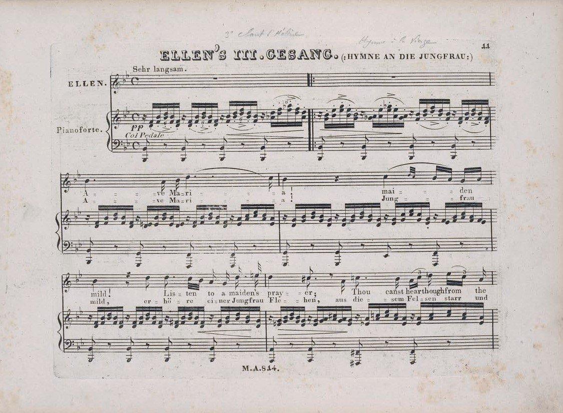 prima edizione dell'ave maria di schubert (1826)