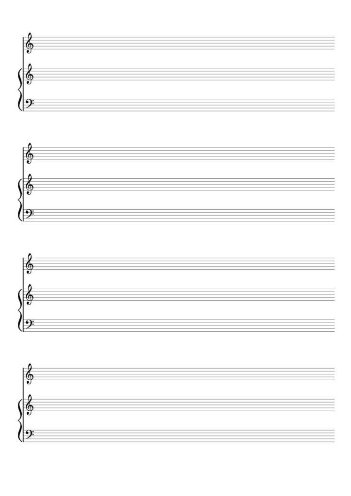 Spartito vuoto voce e pianoforte