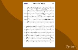 bach: minuetto in sol (spartito gratis per ensemble di chitarre)